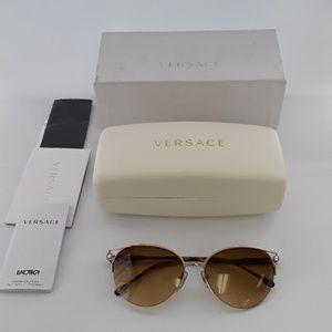 NIB Versace MOD 2123-B 1252/2L 56-16 Sunglasses